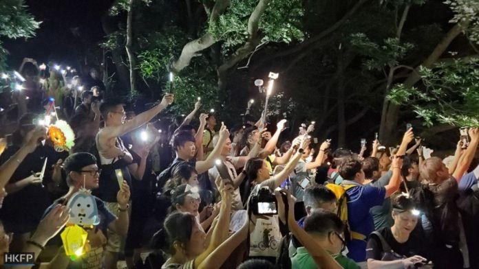 September 13 mid-autumn festival lion rock light protest