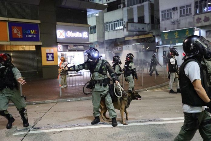 police dog yuen long october 21