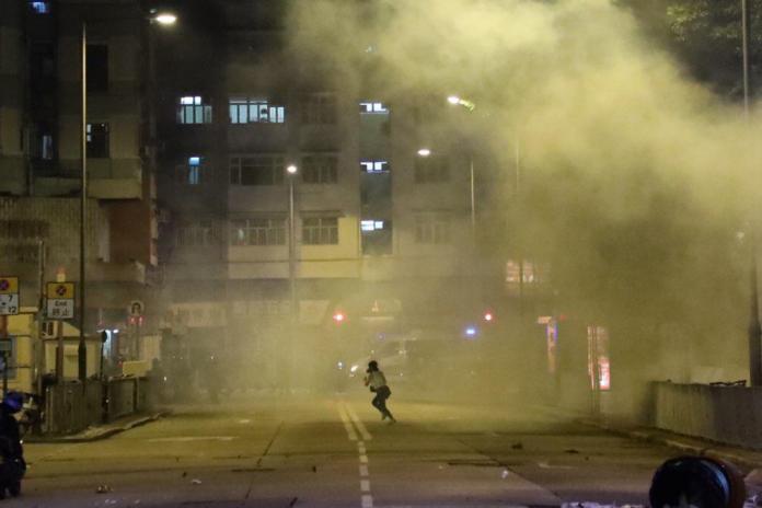 tear gas yuen long october 21