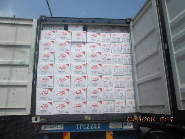 Alda Cooking Oil Ready to Unload