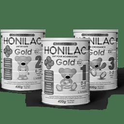 Honilac Infant Formula Black and White Logo 256