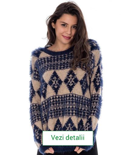 pulover de dama cu motive de craciun