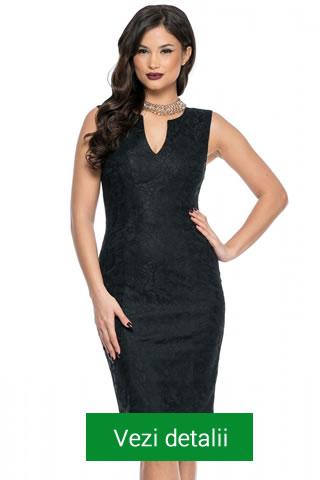 rochie neagra din dantela
