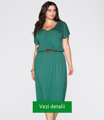 Rochie culoarea verde pentru femei grasute