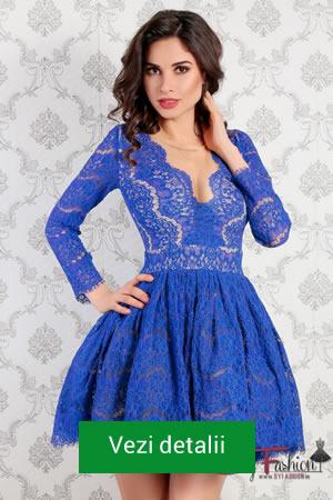 Rochie albastra eleganta din dantela