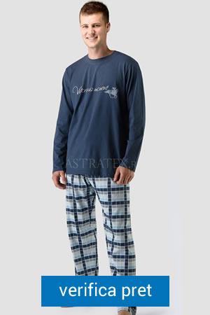 pijama de barbati cu model in carouri