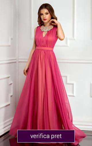 Rochie lunga culoarea roz