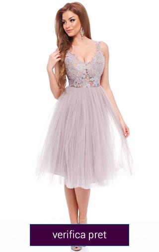 rochie domnisoara de onoare gri