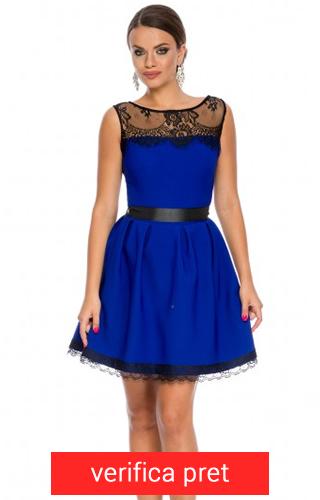rochie scurta albastru electric