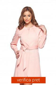 Trenci de dama roz cu cordon