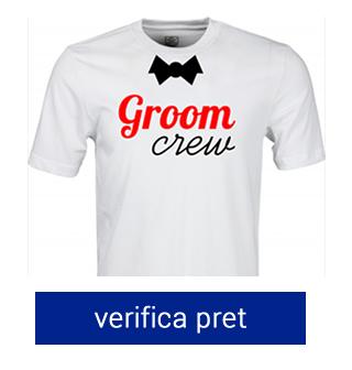 tricou pentru burlaci groom crew