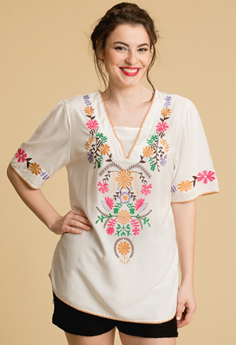Bluza tip ie traditionala cu model floral