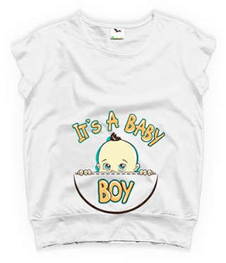 tricouri pentru gravide albe it's a baby girl