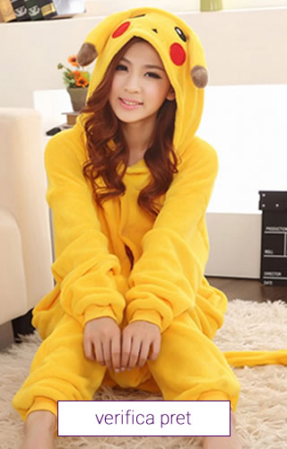Pijama tip salopeta, model Pikaciu, Pokemon
