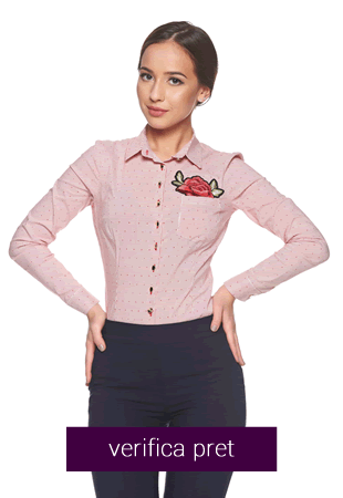 Camasa Fofy Embroidered Rose Red