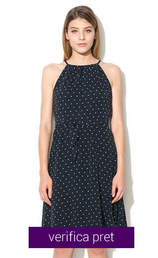 Rochie neagra cu puncte albe