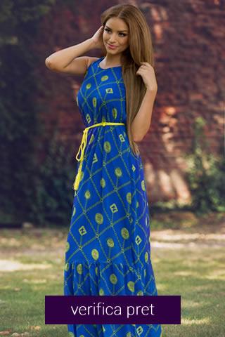 Rochie de vara albastra lunga
