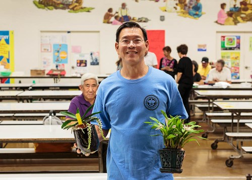 Bradley Lau brought his plants to share.