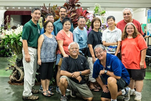 This was just part of the crew that constructed the display.  Construction of the display was completed at 7:30 PM.  The hard working crew had a late stew dinner made by Jackie Lai.