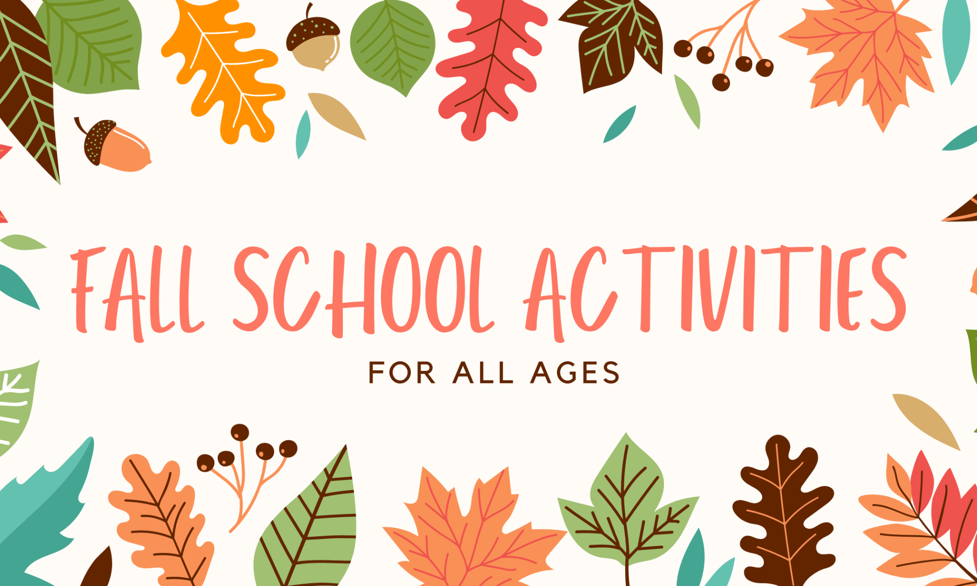 fall school activities for all ages