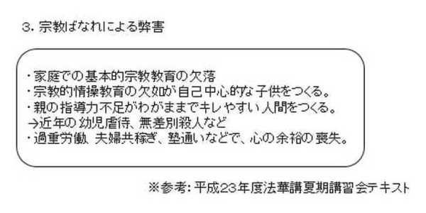 日本国民の宗教離れ