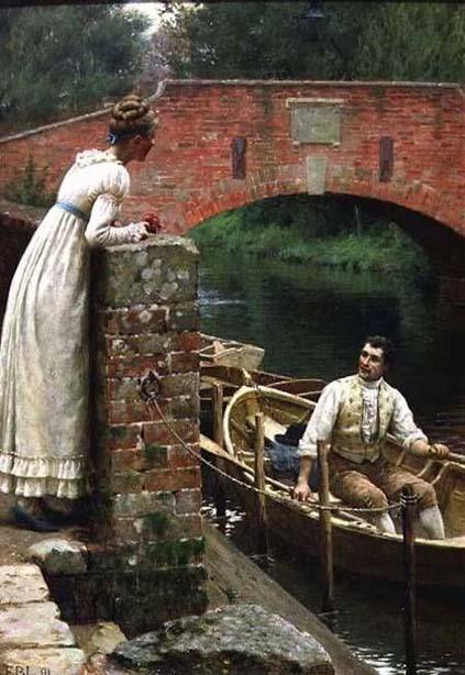 Courtship Edmund Blair Leighton Tea