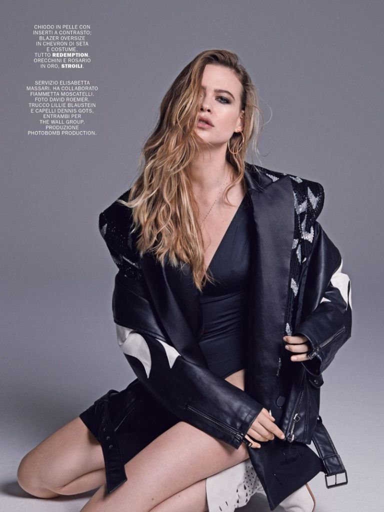 Behati Prinsloo for Marie Claire Italy February 2019. Photographed by David Roemer.