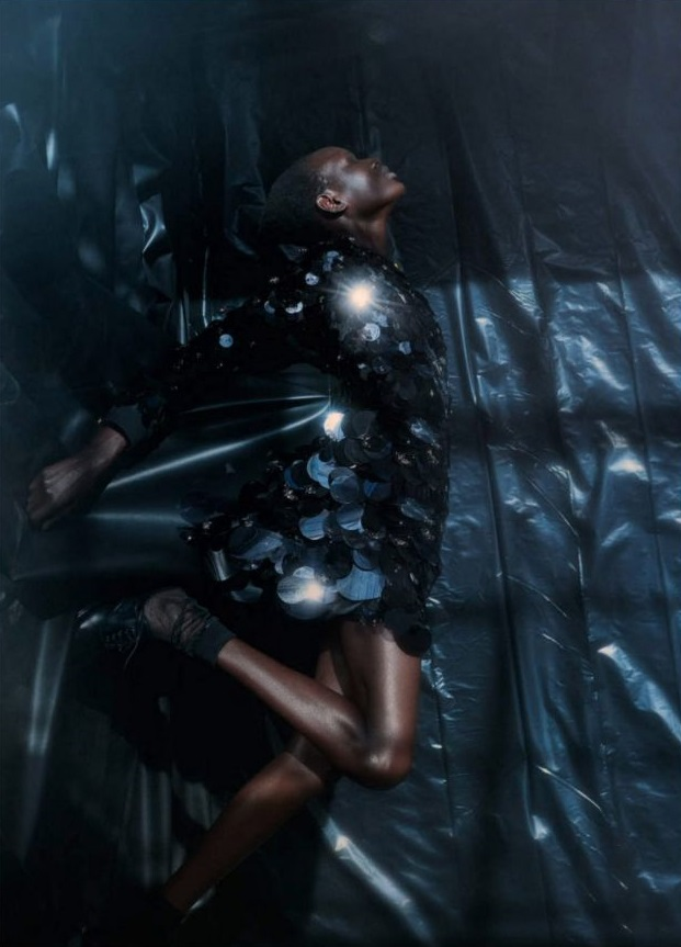 Ajak Deng for Vogue Germany March 2019. Photographed by Julia Noni.