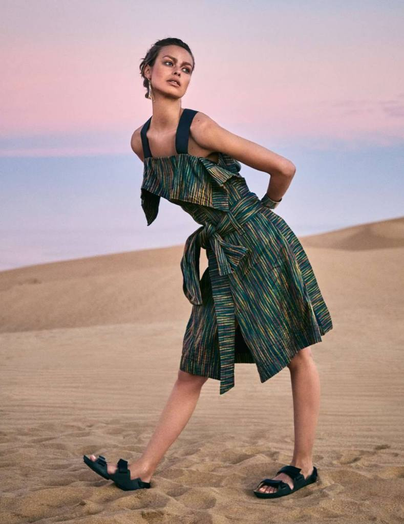 Birgit Kos for ELLE France February 22, 2019. Photographed by Victor Demarchelier.