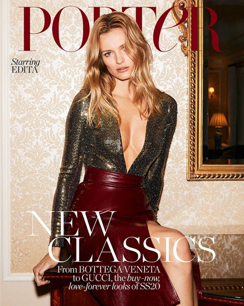 Edita Vilkeviciute for Porter Edit February 2020. Photographed by Carin Backoff.