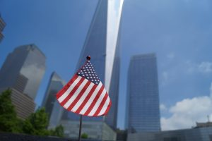 This tiny American flag is all that is left of the instant patriotism that was gained 15 years ago.