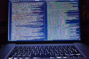 This is code. This is not exactly what it looks like when someone hacks or sets up a cyber attack. This is just what you think it looks like in make believe.