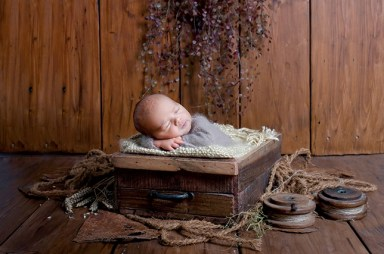 Baby Shooting, in toller Holzschale