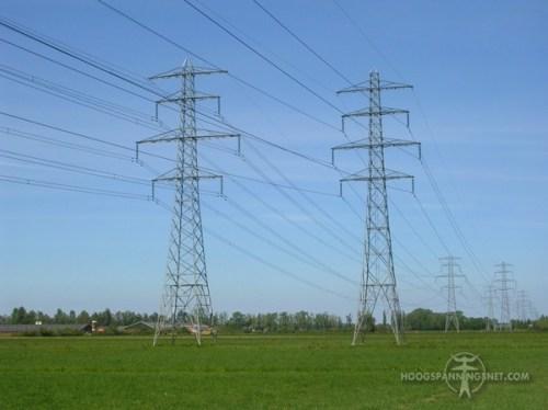 150 kV-tonmasten in Gelderland