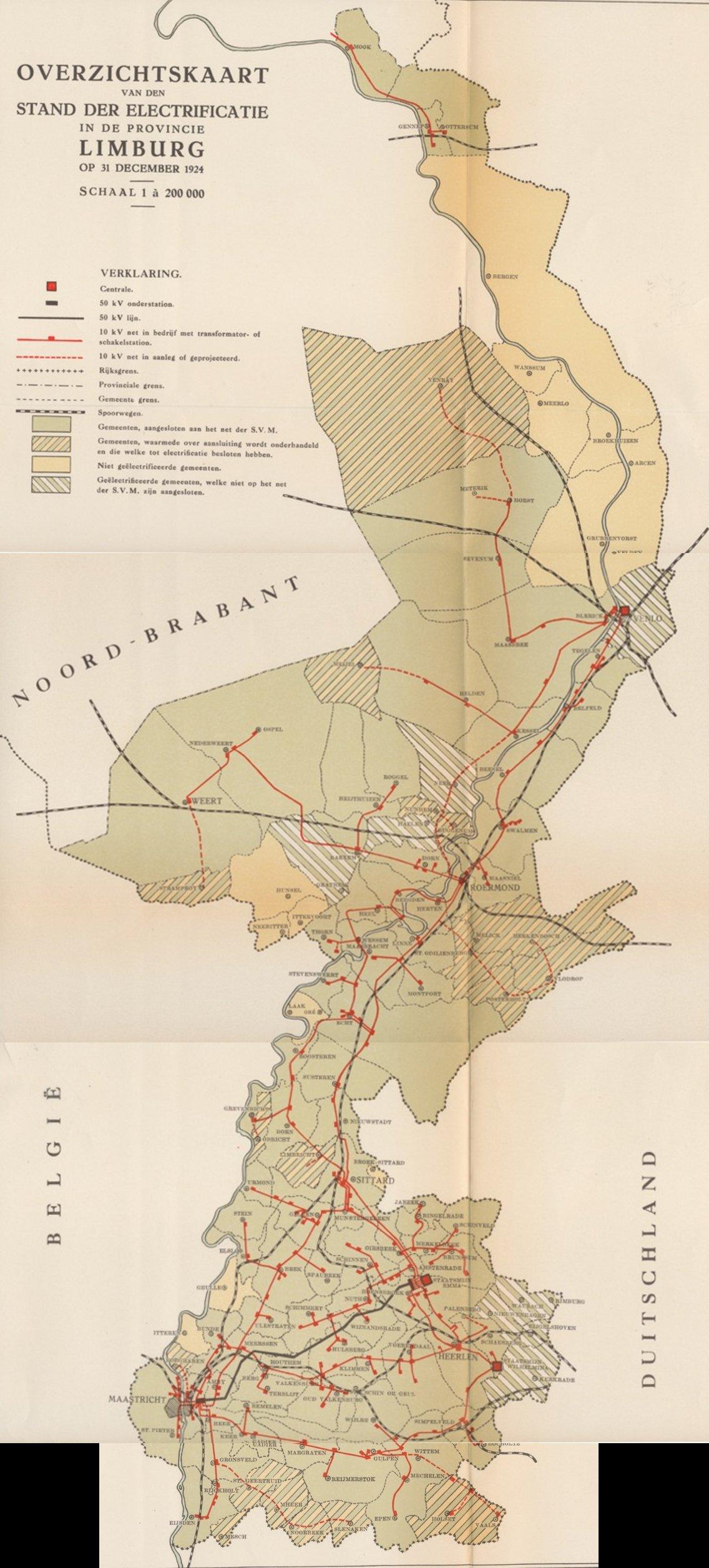 Netkaart Limburg 1924