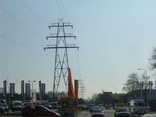 Oude 50 kV-verbinding door Ede