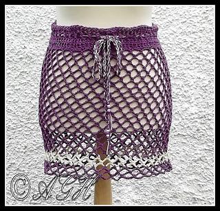 Crochet Skirts Free Patterns-Beach Skirt or Poncho