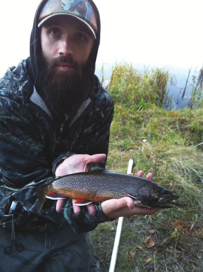 author with brook trout