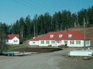 Whiteshell Hatchery Circa 1969 Showing Newly Constructed Circular Holding Tanks Out Front