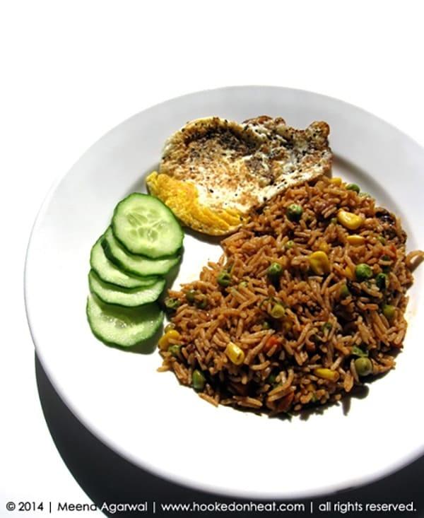 Recipe for Nasi Goreng, taken from www.hookedonheat.com. Visit site for detailed recipe.