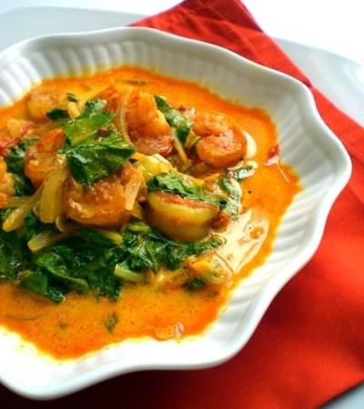 Quick Dinner Ideas: Shrimp & Greens Curry
