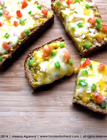 Recipe for Potato Masala Melts, taken from www.hookedonheat.com. Visit site for detailed recipe.