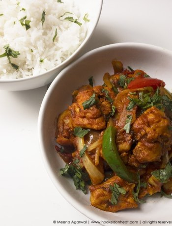 Recipe for Turkey Kadhai, taken from www.hookedonheat.com. Visit site for detailed recipe.