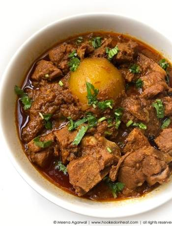 Recipe for Instant-Pot Lamb Curry with Potatoes taken from www.hookedonheat.com. Visit site for detailed recipe.