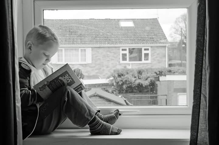 Good reading corner natural light