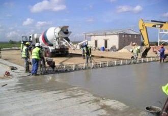 Concrete paving at NGC