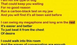 Hairshirt lyrics