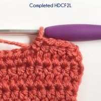 Half Double Crochet in the Front Two Loops Photo Tutorial