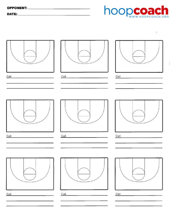 Half Court Basketball Diagrams | Hoop Coach