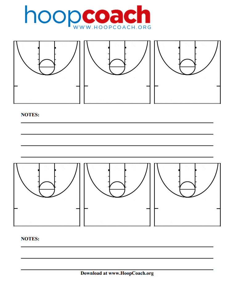 Half Court Basketball Diagrams